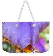 Purple Iris Macro Weekender Tote Bag