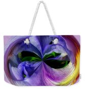 Purple Iris Orb Weekender Tote Bag