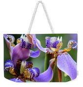 Purple Irises Closeup Weekender Tote Bag