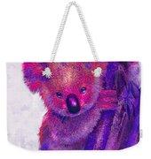 Purple Koala Weekender Tote Bag