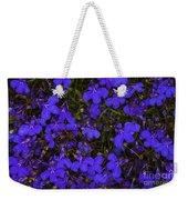 Purple Lobelia Weekender Tote Bag