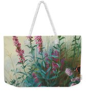Purple Loosestrife And Watermind Weekender Tote Bag