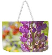 Purple Lupine Flowers Weekender Tote Bag