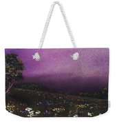 Purple Meadow Weekender Tote Bag