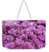 Purple Mums Weekender Tote Bag