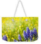 Blue Muscari Mill Bunches Of Grapes Close-up  Weekender Tote Bag