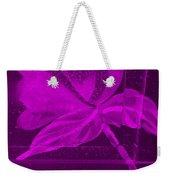 Purple Negative Wood Flower Weekender Tote Bag
