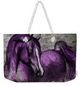 Purple One Weekender Tote Bag by Angel  Tarantella