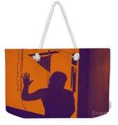 Purple Orange Figure Shadow Weekender Tote Bag