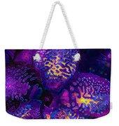 Purple Orchid Abstract Weekender Tote Bag