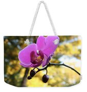Purple Orchid In September Sun Weekender Tote Bag