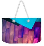 Purple Panels Weekender Tote Bag