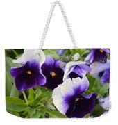 Purple Pansy Melody Weekender Tote Bag