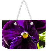 Purple Pansy Weekender Tote Bag