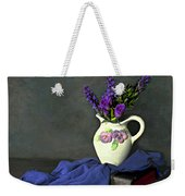 Purple Pardon Weekender Tote Bag by Diana Angstadt
