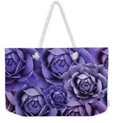 Purple Passion Rose Flower Abstract Weekender Tote Bag