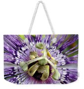 Purple Passion Flower Close Up  Weekender Tote Bag