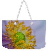 Purple Pastel Daisy Weekender Tote Bag