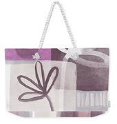 Purple Patchwork- Contemporary Art Weekender Tote Bag