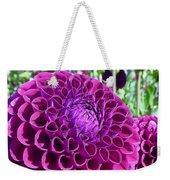 Purple Perfection Dahlia Flower Weekender Tote Bag