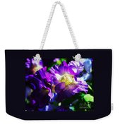 Purple Petunia Portrait Weekender Tote Bag