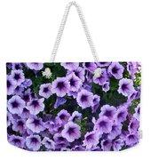 Purple Petunias Weekender Tote Bag