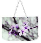 Purple Pink Blossoms Weekender Tote Bag