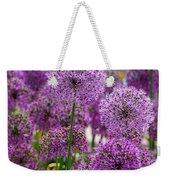 Purple Pom Poms Weekender Tote Bag