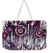 Purple Poppies Weekender Tote Bag