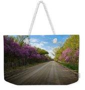 Purple Road Weekender Tote Bag