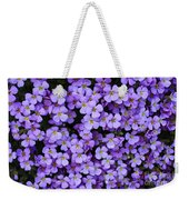 Purple Rockcress Weekender Tote Bag