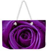 Purple Rose Close Up Weekender Tote Bag