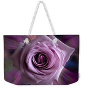 Purple Rose Weekender Tote Bag