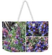 Purple Sage Collage Weekender Tote Bag