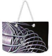 Purple Slinky Weekender Tote Bag