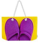 Purple Slippers Weekender Tote Bag by Tom Gowanlock