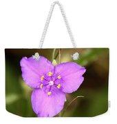 Purple Spiderwort Wildflower Weekender Tote Bag