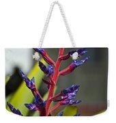 Purple Spike Bromeliad Weekender Tote Bag