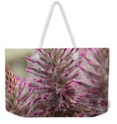 Purple Spike Weekender Tote Bag