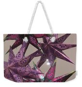 Purple Star Weekender Tote Bag