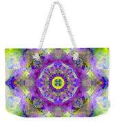 Purple Star Yantra Mandala Weekender Tote Bag