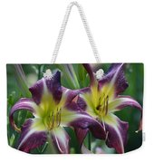Purple Stargazers Weekender Tote Bag