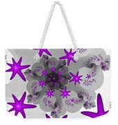 Purple Stars Weekender Tote Bag