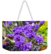 Purple Statice Flower Arrangement Weekender Tote Bag