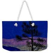 Purple Sunset Bay Weekender Tote Bag