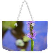 Purple Swamp Flower Weekender Tote Bag