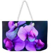 Purple Sweet Peas Weekender Tote Bag