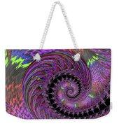 Purple Swirl Weekender Tote Bag