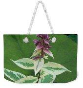 Purple Tipped Flower Weekender Tote Bag