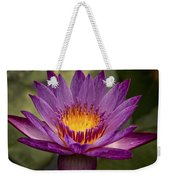 Purple Tropical Water Lily Weekender Tote Bag